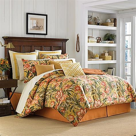 lily comforter tommy bahama 174 tropical lily comforter set in golden yellow