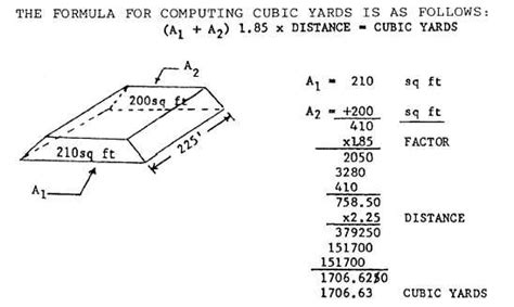 cross sectional area of trapezium figure 4 12 computing cubic yards of cross sections
