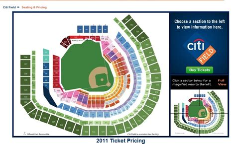 citi field seating map the new 2012 citi field seating chart the mets
