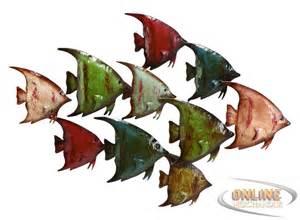 Metal Fish Wall Decor new benzara 63533 coastal fish metal wall nautical decor