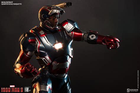 Ironman Patriot Marvel iron patriot don cheadle portrait revealed sideshow collectibles