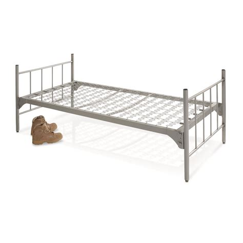 military bed u s military surplus steel bed new 680854 cots at