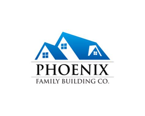 Online Custom Home Builder logo design entry number 22 by henghong phoenix family