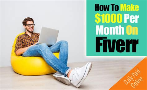 How To Make Serious Money Online - how to make serious money on fiverr earn 1000 per month