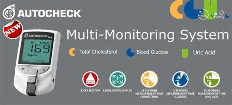 Autocheck 3in1 Gcu Multi Monitoring Sytem autocheck tes gula darah asam urat kolestrol gcu