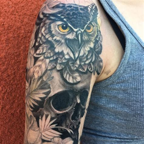 owl skull tattoo meaning owl meanings ink vivo