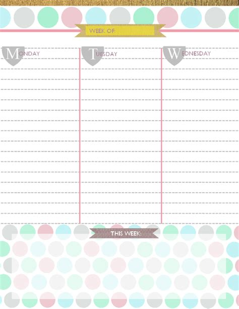 Free Printable Daily Planner Calendar 2015 | 6 best images of free 2015 printable daily planner 2015