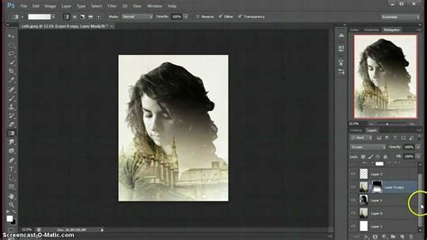 tutorial double exposure di photoshop double exposure photoshop tutorial youtube