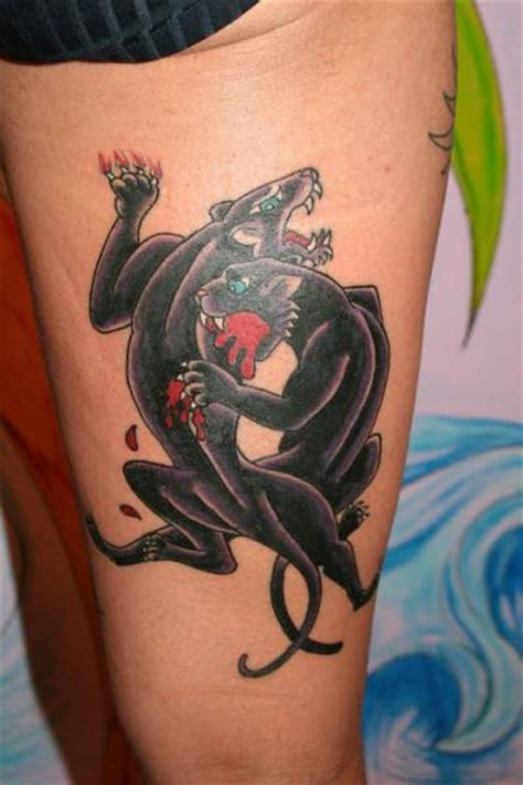 tattoo old school panther old school leg panther tattoo by c jay tattoo