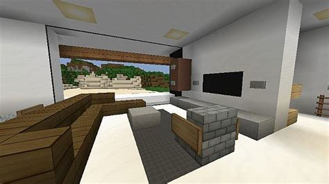 minecraft modern living room modern the beach house minecraft project