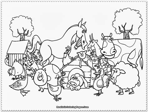 Farm Animal Coloring Pages Realistic Coloring Pages Farm Animals Colouring Pages