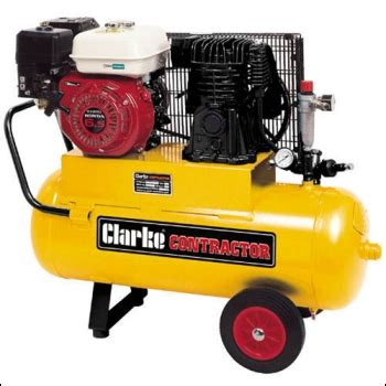 clarke pp15yb contractor portable petrol air compressor 187 product