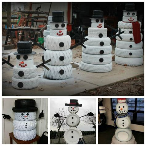 snowman decorations for the home creative ideas diy adorable snowman decor from tires