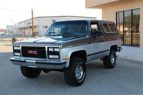 gmc k5 jimmy 1991 gmc jimmy blazer k5 rust free arizona truck