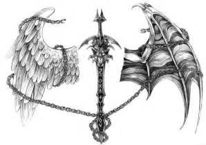 sword wolf tattoo by nalavara by wolfboy1579 on deviantart