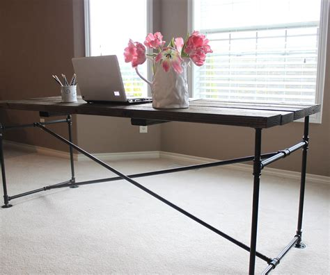 Industrial Pipe Desk Just Like Playing House Diy Metal Desk