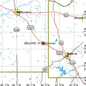 Bellevue Zip Code Map by Bellevue Texas Tx Population Data Races Housing