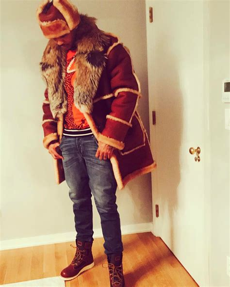 paul anthony daniels carmelo anthony wears daniel s leather fur coat paul