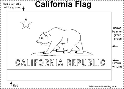 california flag printout enchantedlearning com