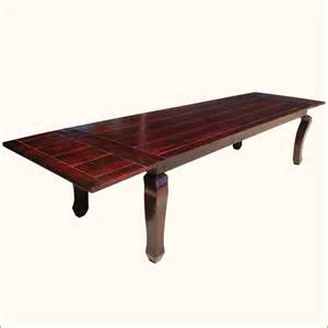 Big Wood Dining Table 144 Quot Large Dining Room Extendable Table Solid Wood Furniture Seats 14 New Ebay