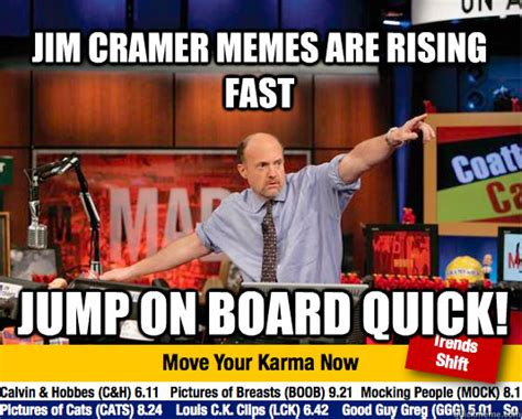 Jim Cramer Meme - mad karma with jim cramer memes quickmeme