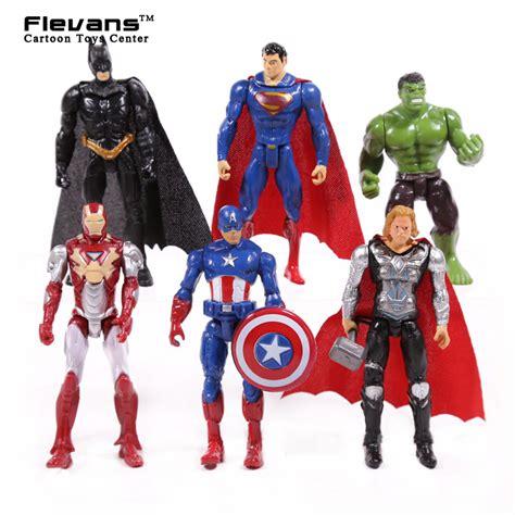 Figure 1 Set 6 Pcs aliexpress buy superheroes 6pcs set iron thor captain america batman superman pvc