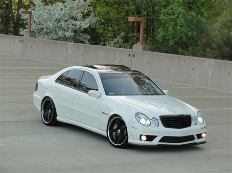 mercedes bench white on black mercedes benz w211 e55 amg benztuning