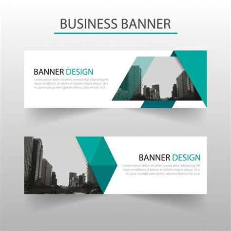 banner design inspiration vector abstract blue banner with geometric shapes vector free