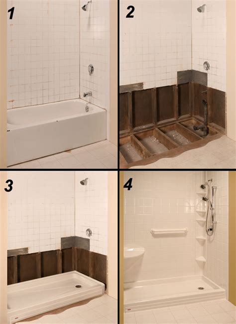 Convert Shower To Tub by Tub To Shower Conversion The Refreshing Remodelbathroom