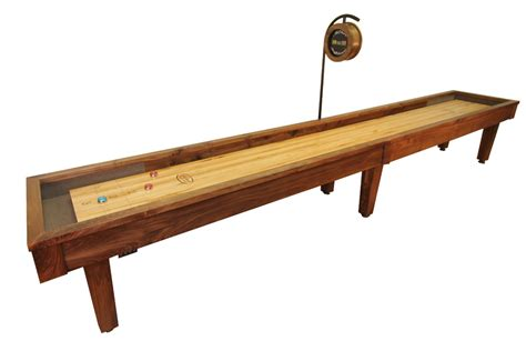 12 foot sloan walnut shuffleboard table mcclure tables