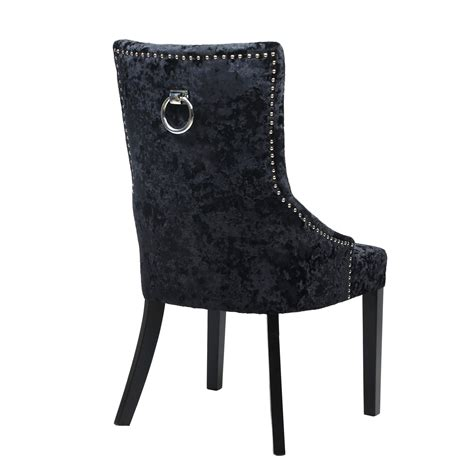 Ring Back Dining Chair Dita Ring Back Velvet Chair