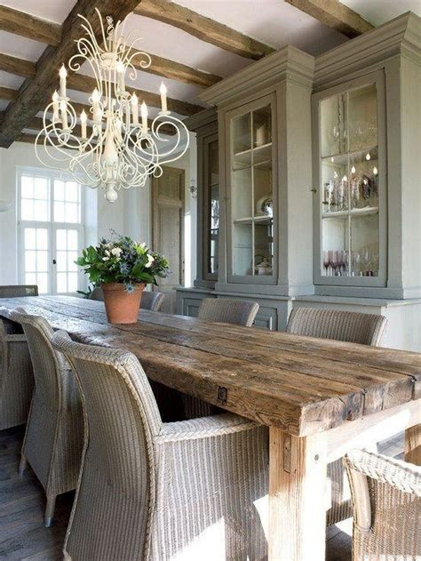 dining room decor 47 calm and airy rustic dining room designs digsdigs