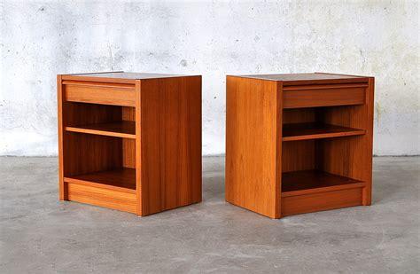 Teak Nightstands Modern by Select Modern Pair Of Poul Hundevad Teak Nightstands Or