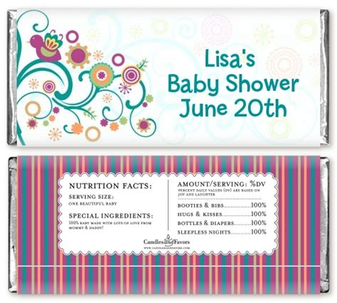 baby shower hershey bar wrappers baby sprinkle baby shower bar wrappers candles