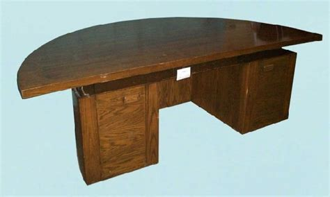 169 deco style half circle office desk lot 169