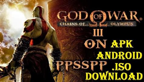 god of war apk god of war 3 iso apk for android