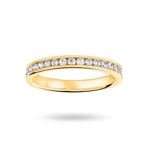 Eternity Ring by 9 Carat Yellow Gold 0 33 Carat Brilliant Cut Half Eternity