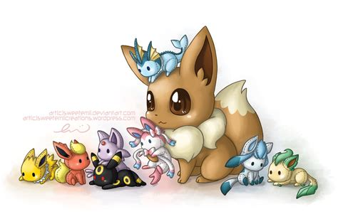 and friends eevee and friends by sweetemii on deviantart