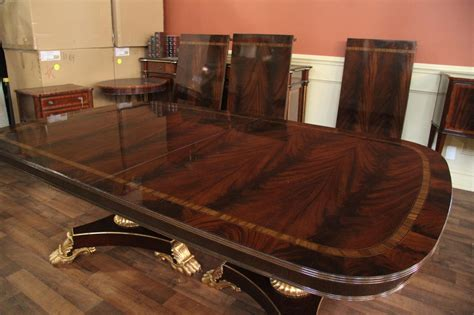 extra large  wide mahogany dining room table
