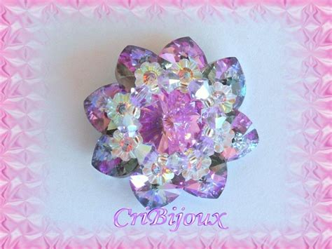 swarovski fiori ciondolo fiore di cuori con cabochon swarovski cribijoux