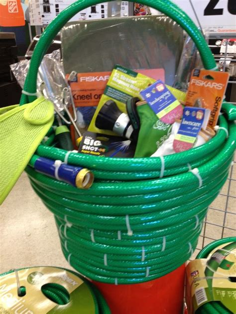basket filled  gardening goodies gift basket ideas