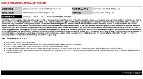 Transition Specialist Cover Letter by Transition Specialist Cover Letter Resume 57767