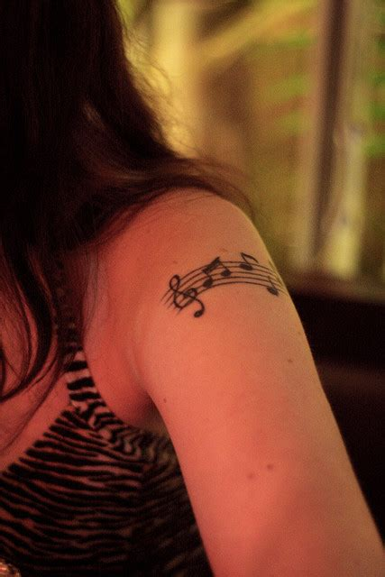 32 cool music note tattoo ideas