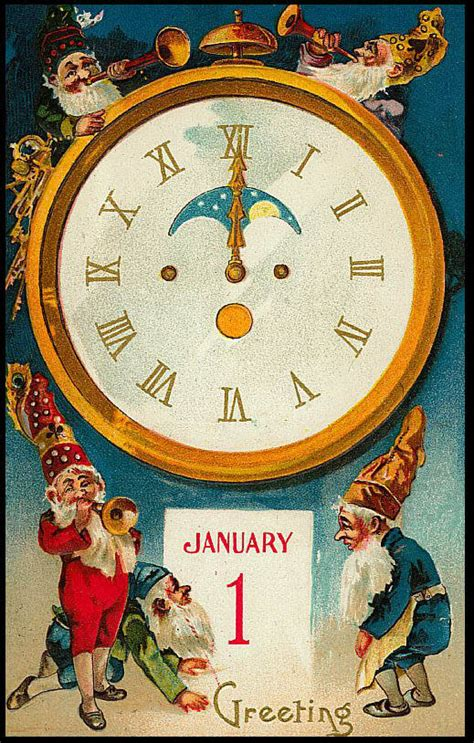 free vintage happy new year greeting cards elves with new year card of gluten free baking
