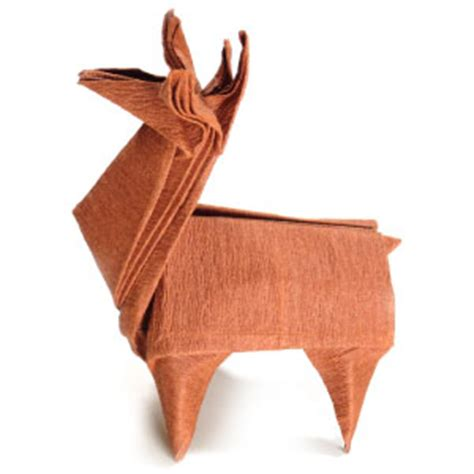 Origami Reindeer - how to make an origami reindeer page 1