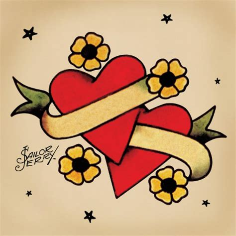 sailor jerry heart tattoo designs honours clare sommerville sailor jerry