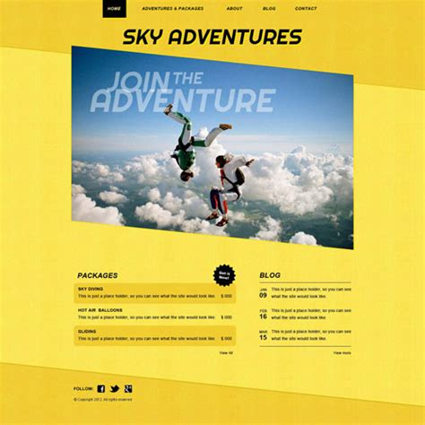 free sports website templates air sports website template free website templates