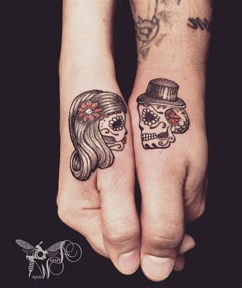 matching skull tattoos tattoo collections