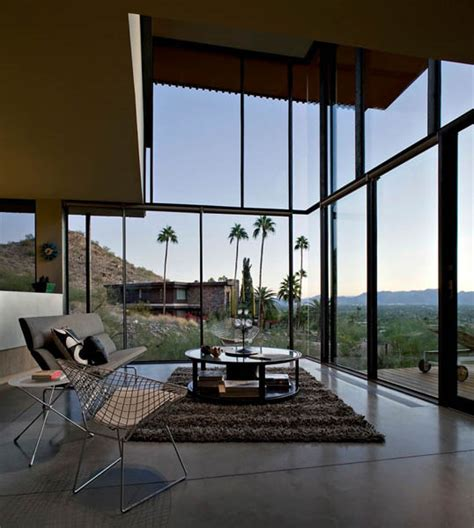 Houses With Big Windows Decor Modern House In Arizona Jarson Residence Interior Design And Decor