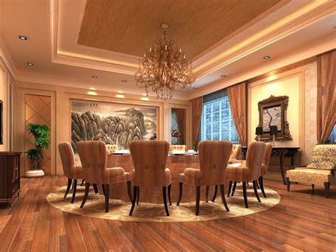 dining room interior  large painting  model max